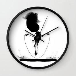 The Letter U Wall Clock