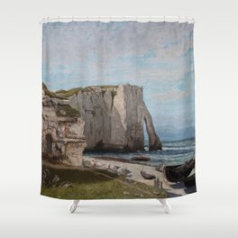 The Etretat Cliffs after the Storm - Gustave Courbet Shower Curtain