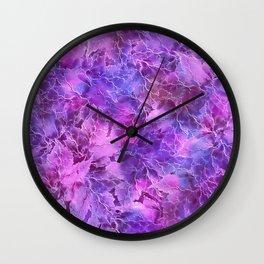 Frozen Leaves 27 Wall Clock