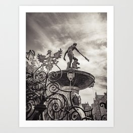 Neptune's Fountain Art Print