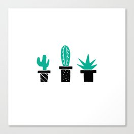 Cactus Friends Canvas Print