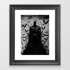 The night rises B&W Framed Art Print