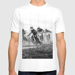 Motocross black white T-shirt
