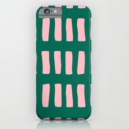 Handrawn Boho Rectangles No 03 iPhone Case