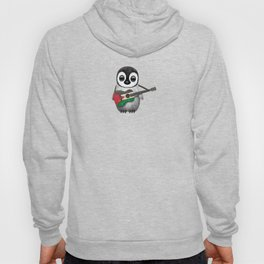 Baby Penguin Playing Palestinian Flag Acoustic Guitar Hoody