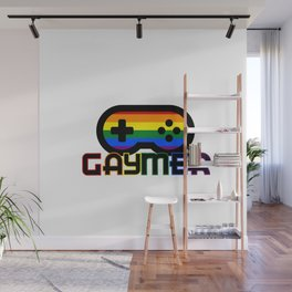 Rainbow Gaymer Gamer Wall Mural