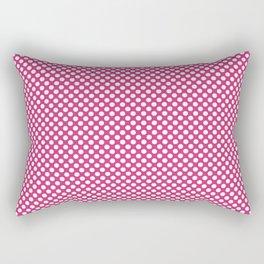 Fuchsia Purple and White Polka Dots Rectangular Pillow