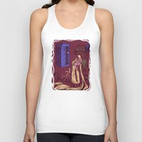 blondie Tank Tops featuring You Comin' Blondie?  by Karen Hallion Illustrations