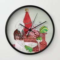 moscow Wall Clocks featuring Moscow by Xenia Ericovna