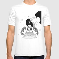 Into Your Dream White SMALL Mens Fitted Tee