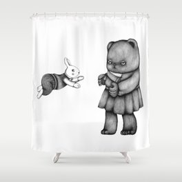Bearly In Love Shower Curtain