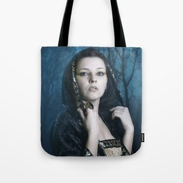 Blue Lady Tote Bag