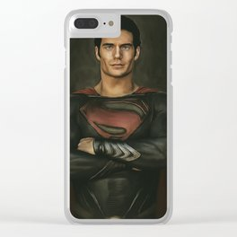 Man of Steel ( Superman) Painting Clear iPhone Case