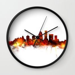 Louisville Kentucky City Skyline Wall Clock