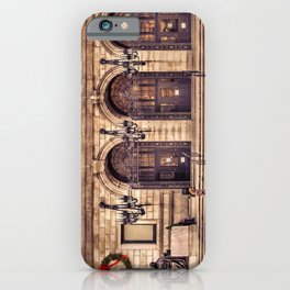 Christmas night at Boston Public Library iPhone Case