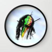 marley Wall Clocks featuring Marley in the Sky by Andre Ferraz digital & Fine Art