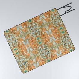 Humming Bird Orange Picnic Blanket
