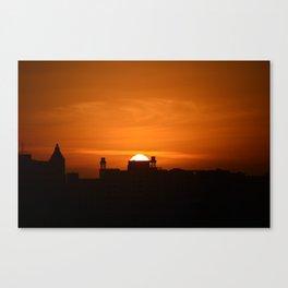 SUNSET-PUERTO RICO Canvas Print