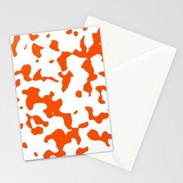 Large Spots - White and Dark Orange Stationery Cards