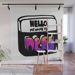 Hello My Name Is Nerd Wall Mural