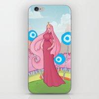 princess bubblegum iPhone & iPod Skins featuring Princess Bubblegum by Antoine Jean