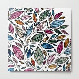 Watercolor Leaf Illustration BP0732 Metal Print