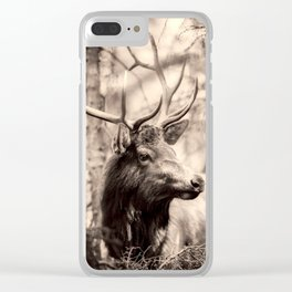 Watchful Elk Clear iPhone Case