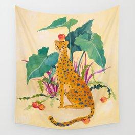 Cheetah and Apples Wall Tapestry