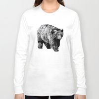 fitzgerald Long Sleeve T-shirts featuring Bear Square by Emma Fitzgerald
