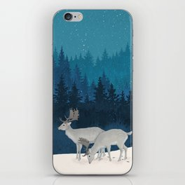 Winter forest iPhone Skin