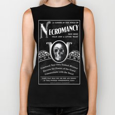 Faux School of Necromancy Recruitment Poster Biker Tank