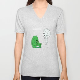 This is a great gift for broccoli haters who loves to make fun of it and to show your friends GHOST! Unisex V-Neck