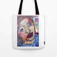 river Tote Bags featuring River by S.Queimado-Lima