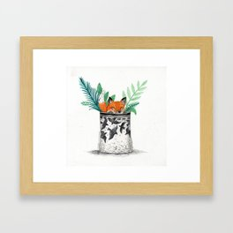Fox Pot Framed Art Print