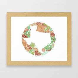 Texas Forever - Earth Framed Art Print