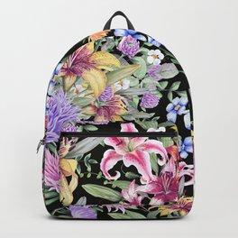 FLORAL GARDEN 3 #floral #flowers #vintage Backpack