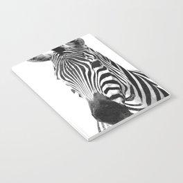 Black and white zebra illustration Notebook