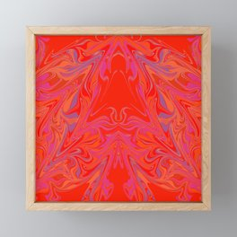 swirling heat 3 Framed Mini Art Print