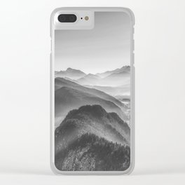 Balloon ride over the alps 3 Clear iPhone Case