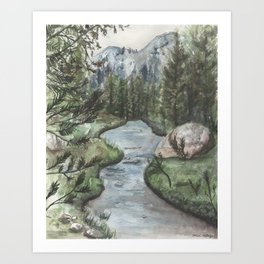 Yosemite National Park Art Print