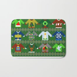The Ugly 'Ugly Christmas Sweaters' Sweater Design Bath Mat