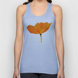 One And Only - Orange Poppy White Background #decor #society6 #buyart Unisex Tank Top