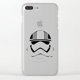 CAPTAIN PHASMA HELMET Clear iPhone Case