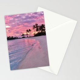 SUNSET AND PALM TREES Stationery Cards