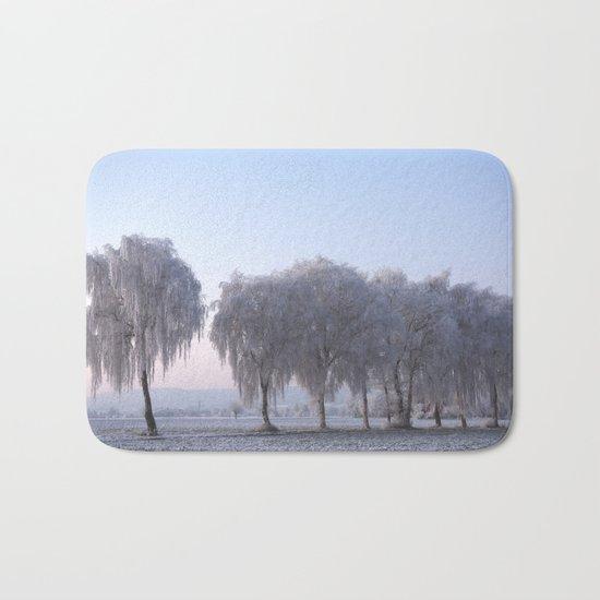 Winter dreams with a birch tree Bath Mat