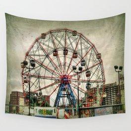 Coney Island Wonder Wheel Wall Tapestry