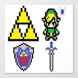 Legend of Zelda Pixel Canvas Print