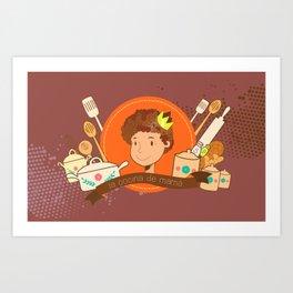 La cocina de mamá Art Print