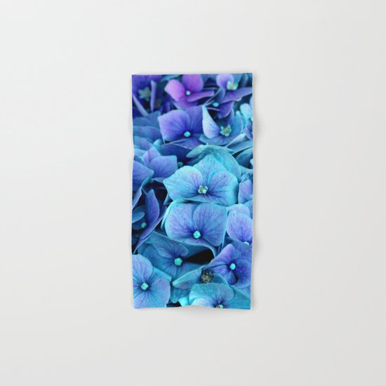 Purple Blue hydrangea Hand & Bath Towel