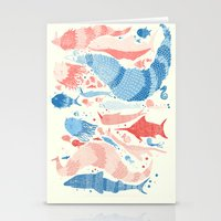 under the sea Stationery Cards featuring Under the sea by Matt Saunders